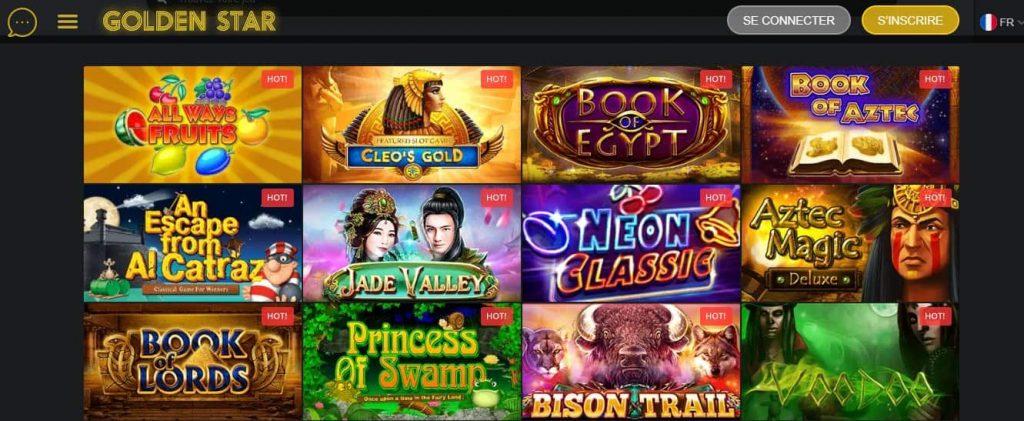 les jeux de casino golden star